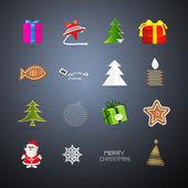 Vetor ícones de natal — Vetorial Stock
