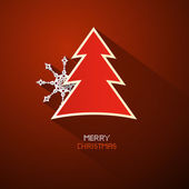 Red Abstract Vector Merry Christmas Background — Vector de stock