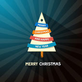 Abstract Vector Merry Christmas Background — Stock vektor