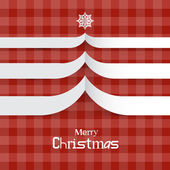 Red Abstract Vector Merry Christmas Background — Stock Vector
