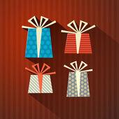 Retro papel de regalo, cajas de regalo — Vector de stock