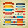 Retro Ribbons, Labels, Tags Set — Stock Vector