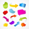 Colorful Set of Arrows, Labels, Tags, Stickers — Image vectorielle