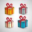Vector Present Boxes Isolated on White Background  — Stok Vektör
