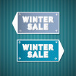 Stock Vector: Winter Sale Retro Signs