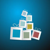 Paper Abstract Gift, Present Boxes — Stock vektor
