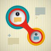 Retro Circle Infographics Background — Vector de stock