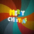 Merry Christmas Retro Background — Stock Vector