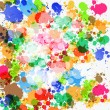 Colorful Vector Splashes Abstract Background — Imagens vectoriais em stock