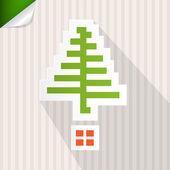 Paper Christmas Vector Background — Stockvektor