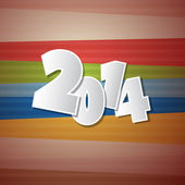 Retro Vector Happy New Year 2014 Background — Stock Vector