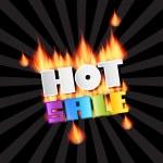 Vector Hot Sale Title In Flames — Stock Vector