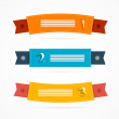 Ribbons, Labels Set in Retro Colors — Stock Vector