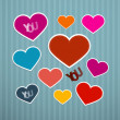 Vector Retro Hearts Background — Stock Vector