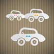 Paper Retro Cars — Stock Vector