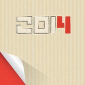 Felice nuovo anno 2014 sfondo cartone — Vettoriale Stock