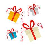 Vector presente conjunto de cajas — Vector de stock