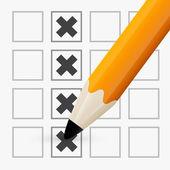 Pencil Check Option — Stock Vector