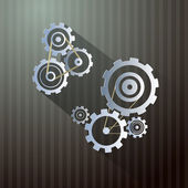 Abstract Retro Vector Cogs - Gears — Stock Vector