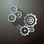 Abstract Retro Vector Cogs - Gears — Stock Vector