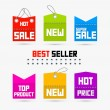 Colorful Sale, Discount Tags, Labels — Stock Vector