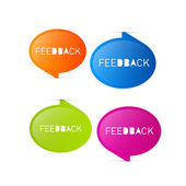 Colorful Vector Feedback Icons — ストックベクタ