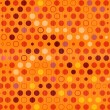 Stock Vector: Orange Vector Dots, Circles Seamless Pattern