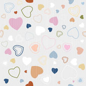 Abstract Retro Textile Seamless Hearts Pattern — Stock Vector