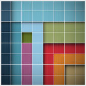 Abstract Vector Retro Square Background — Stock Vector
