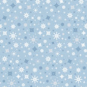 Abstract Vector Seamless Blue Winter Background with Snowflakes — Stock Vector