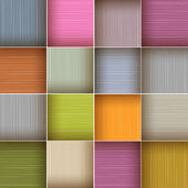 Vector Square Colorful Wooden Abstract Background — Stock Vector
