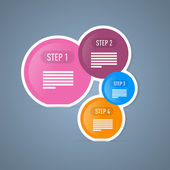 Four Tutorial Steps, Infographics Web Layout. — Stockvektor