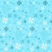 Retro Seamless Blue Winter Background with Snowflakes — Stock Vector