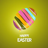 Vector Easter Background with 3d Abstract Egg — Vettoriale Stock