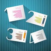 Vector Progress Steps for Tutorial, Infographics — Stock Vector