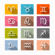 Vector Zodiac, Horoscope Symbols — Stock Vector #38103993
