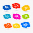 Colorful Discount Labels, Stains, Splashes — Stock Vector #38104425