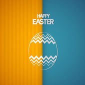 Easter Retro Background with Abstract egg Symbol — Stock Vector
