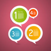 Vector Progress Steps for Tutorial, Infographics — 图库矢量图片