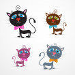Vector Cat Illustration Set — Stock Vector #38554325