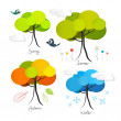 Four Seasons Vector Illustration — Stock Vector #38559027