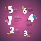 Vector Progress Steps for Tutorial, Infographics on Pink, Violet Background — 图库矢量图片