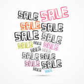 Abstract Grunge Vector Sale Titles — Stock Vector