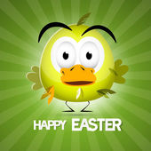Retro Vector Green Easter Background — Stock Vector