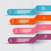 Vector Paper Progress Steps for Tutorial, Infographics Layout — Vector de stock