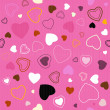 Pink Vector Seamless Hearts Pattern — ストックベクタ