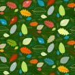 Abstract Vector Green Seamless Leaves Pattern — Stock Vector