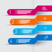 Vektor retro papper framsteg steg för läraren, infographics — Stockvektor