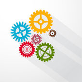 Abstract Colorful Vector Cogs - Gears — Stock Vector