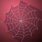 Abstract Vector Cobweb Illustration on Dark Pink Background — Stock Vector